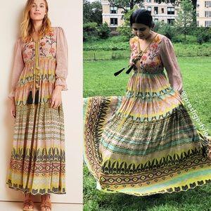 ANTHROPOLOGIE Bhanuni Jyoti Giorgia Maxi Dress